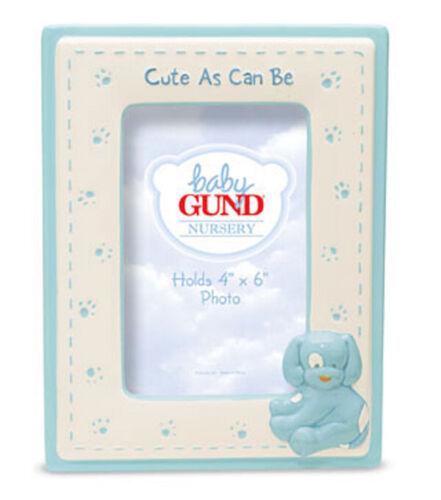Baby Gund Spunky Puppy Dog Baby Boy Blue Picture Frame Porcelain BNIB