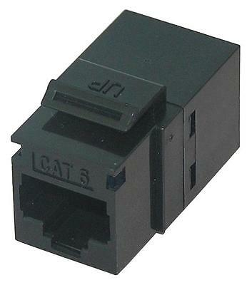 RJ45 THROUGH COUPLERCAT6LOWBLACK Connectors Modular, RJ45 THROUGH COUPLER,