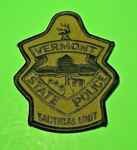 """VERMONT TACTICAL UNIT SUBDUED  4 1/2""""  STATE POLICE PATCH  FREE SHIPPING!!!"""