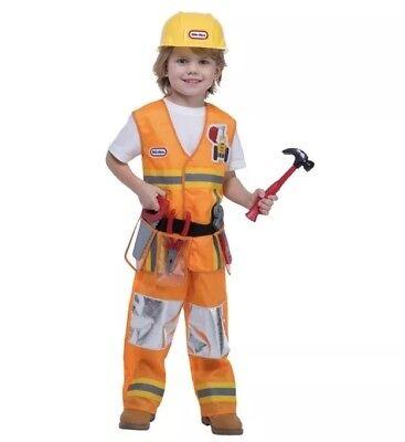 NWT Palamon Little Tikes CONSTRUCTION WORKER Boys Halloween Costume size 3T/4T](Construction Halloween Costume)