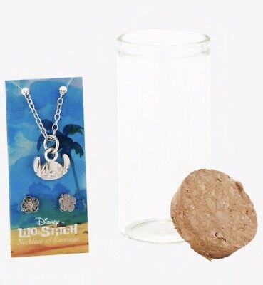 Disney Lilo & Stitch Message In A Bottle Jewelry Set New In Bottle!