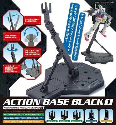 Bandai Hobby Gundam Action Base 1 Display Stand MG 1/100 Scale Black USA Seller 100 Action Base
