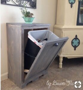 Tilt out trash can cabinet  IN SEARCH OF