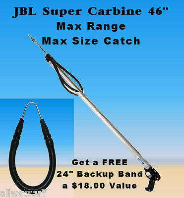FREE Xtra Band JBL D8 Super Carbine Speargun Spear gun fish catch shoot spear
