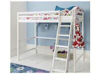 Solid pine children kids room Cabin loft bed bunk bed style white