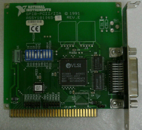 National Instruments NI 181065-01 GPIB-PCII/IIA IEEE-488.2 Interface Card