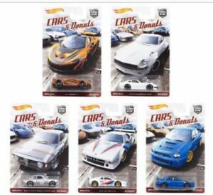 Hot Wheels Car Culture Cars and Donuts Complete Set