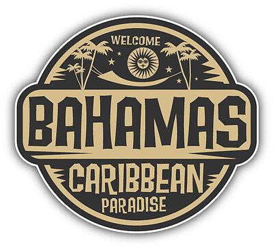 "Bahamas Caribbean Paradise Car Bumper Sticker Decal 5"" x 5"""