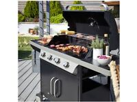 BLOOMA 4 BURNER GAS BBQ selling for **£190/ONO** (RRP £529.99)