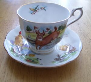 "ROYAL ALBERT Cup and Saucer ""Hunting in Canada"""