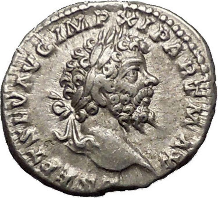 Septimius Severus 199ad Silver Rare Ancient Roman Coin Equality Cult I52287