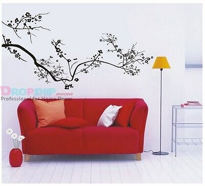Big size Black Trees with flowers  wall room ART decor mural Wall Stickers 11049 on Rummage