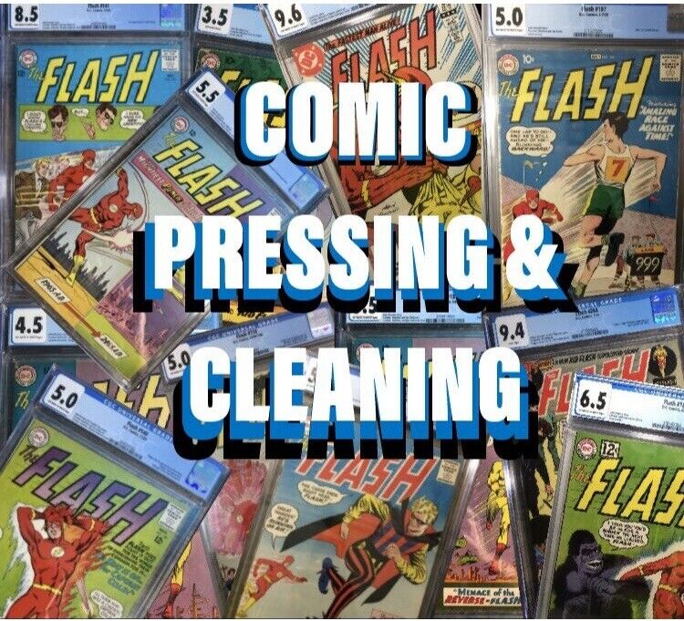 Comic Book Press And Clean Any Comic Fast And Professional DC, Marvel Comics 🤩