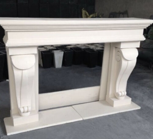 """This Week 15% Off 72"""" Niagara Cast Stone Fireplace Mantel Mantle Surround"""