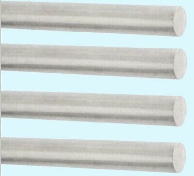 Solid Aluminum Round Rod 4-pack 18 X 12 Bar Stock Alloy 6061 Mill Finish