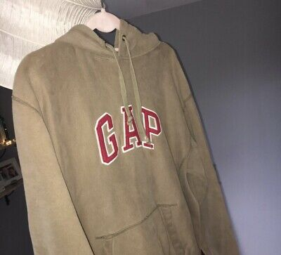 Vintage Khaki GAP Hoodie Size Small, So Comfy And In Such Good Condition