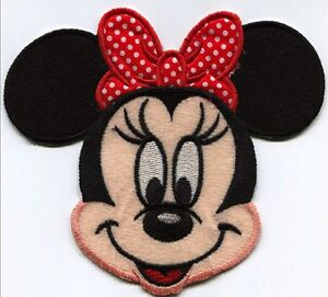 MINNIE MOUSE MICKEY GIRL EMBROIDERED AND FABRIC IRON ON APPLIQUE PATCH BADGE