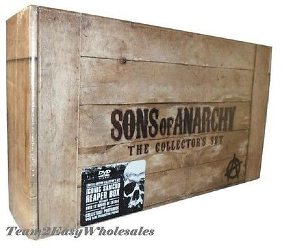 New Sons Of Anarchy Complete Series Season 1 5 6 7 30 Disc Dvd Collectors Set