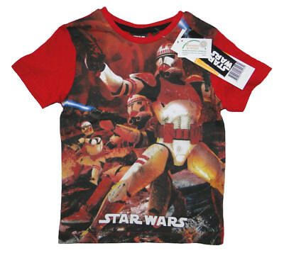 Star Wars Jungen T-Shirt Kinder kurzam Shirt Tshirt Darth Vader Yoda Clone