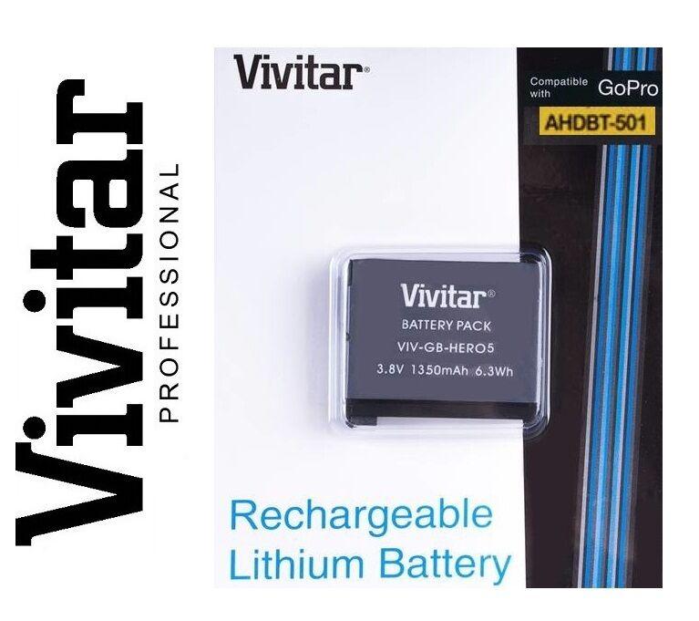 Vivitar Hi Capacity AHDBT-501 Li-Ion Battery for GoPro HD HE