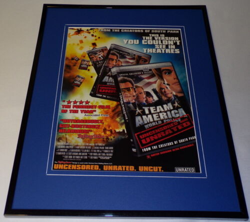 Team America World Police 2004 Framed 11x14 ORIGINAL Advertisement