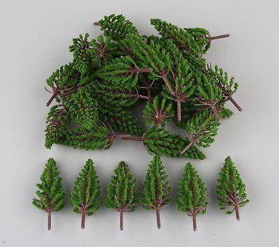 50pcs Model Pine Trees Model Train Trees for HO or OO scale scene 78mm New
