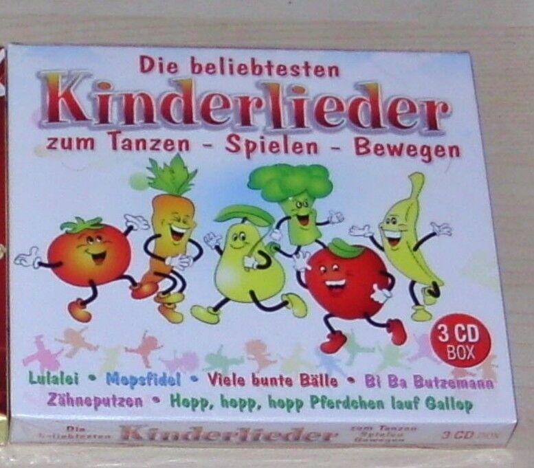 DIE BELIEBTESTEN KINDERLIEDER ZUM TANZEN / SPIELEN / BEWEGEN 3 CD DIGIPAK NEU