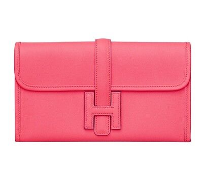 Authentic Cute New HERMES Classic H Rose Azalee Pink Jige Duo Wallet Clutch  for sale  Chicago