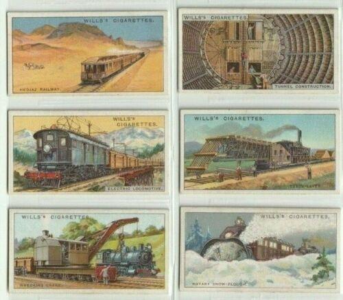 WILLS ENGINEERING WONDERS 1927, 50 ORIGINAL TOBACCO CARDS, FULL VG SET