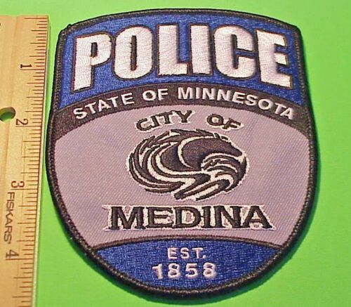 MEDINA 1858 MINNESOTA MI .  POLICE DEPT. PATCH  FREE SHIPPING!!!