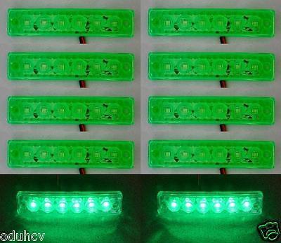 10x Lato Posteriore Esterno Indicatore 6 LED Verde 12V Luci