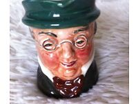 Royal Doulton Toby Jugs Mr Pickwick & Mr Micawber