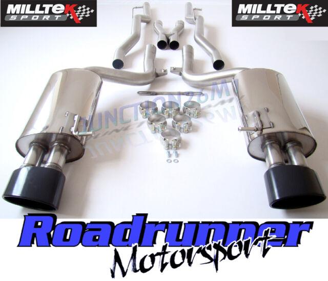 Milltek SSXAU062BLK Audi RS4 B7 Exhaust Cat Back Non Res (NON-VALVED) BLACK TIPS