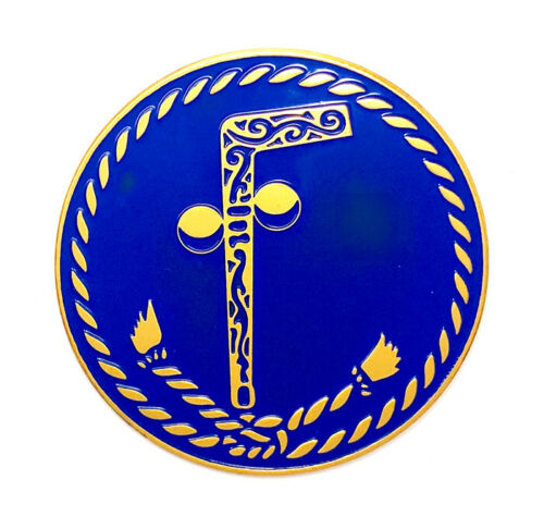 Two Ball Cane Masonic car emblem  2 3/4 inch #CTBC