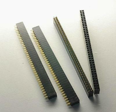 50pcs 2.54mm 2 40 Pin Female Double Row Pin Header Strip New Good Quality