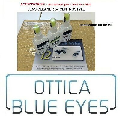 Accessorize Detergente per occhiali vista sole Lens Cleaner Spray antibatterico