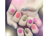 Campaign nails this month.£25 including take off, cuticle dry care,stone arts
