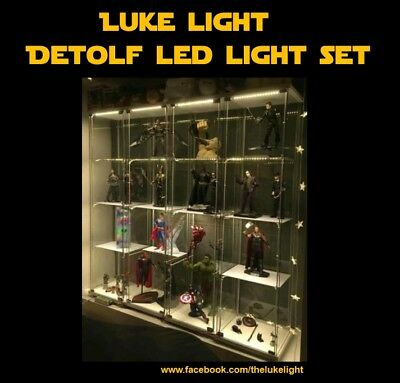 Luke Light LED light Kit for Ikea Detolf - Cosy Warm Tone