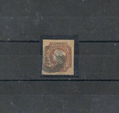 PORTUGAL - 1853 5 rs cast.º aver. a amarelo, D. MARIA II, TIPO II. 52 - PORTO