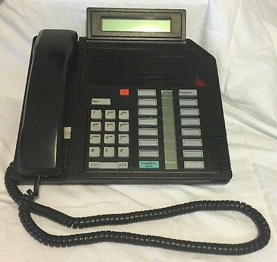 Northern Telecom M2616 Meridian Black Desk Nortel Phone