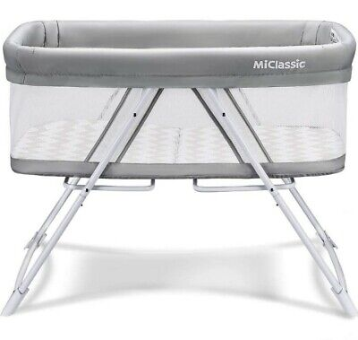 [NEW] MiClassic 2 in 1 Stationary & Rock Bassinet Fold Travel Crib Portable