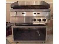 NEW FALCON 3 BURNER CHARCOAL CHARGRILL BROILER FOR BURGERS AND PERI PERI CHICKEN