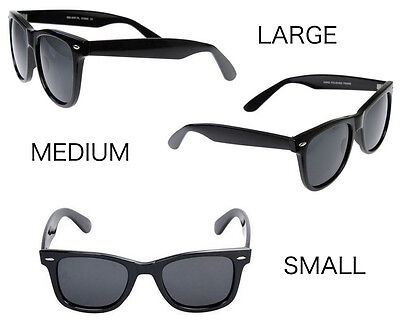 MEN Sunglasses Classic 80 Style Black Frame with Dark Lens - NEW small med (Men With Shades)