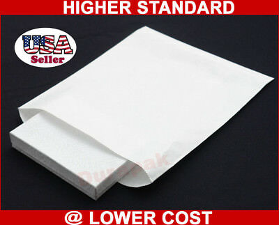 1000 White Kraft 8.5x11 Paper Merchandise Retail Bags Grocery Shopping Bag