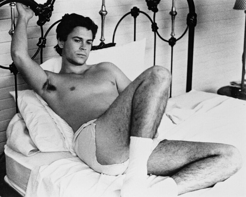 ROB LOWE MASQUERADE BOXER SHORTS ON BED 8X10 PHOTO