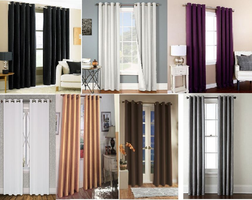 2 SOFT TOUCH BLACKOUT  WINDOW CURTAIN GROMMET PANEL HEAVY TH