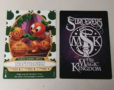 Sorcerers of the Magic Kingdom 2018 Halloween Party Card Orange Bird