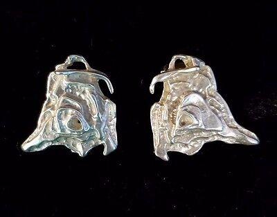 Modernist MCM Norway Juhls Tundra STERLING SILVER 925 Clip On Earrings Modern