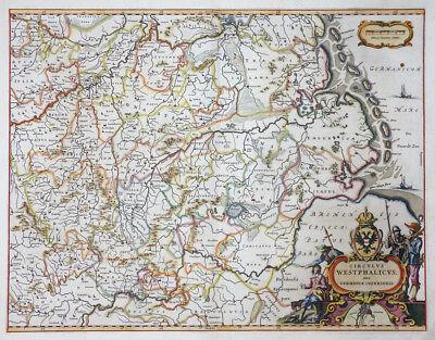 DEUTSCHLAND CIRCULUS WESTPHALICUS WESTFALEN SCHLESWIG HOLSTEIN BLAEU 1640