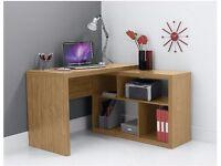 BRAND NEW BOXED - Seattle Corner Desk, Oak Effect Self-assembly